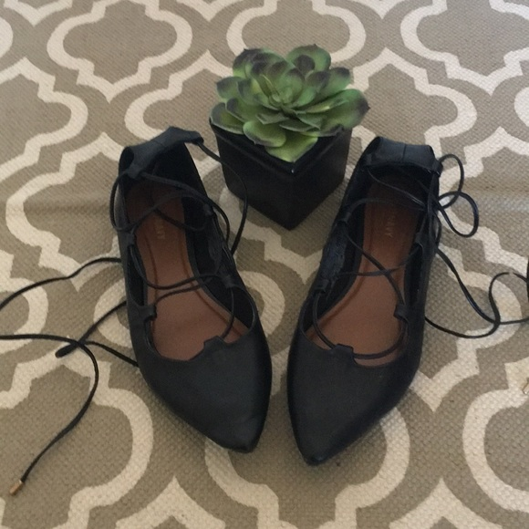 b80f7c8c3d97 Old Navy Shoes | Euc Size 8 Black Lace Up Flats | Poshmark